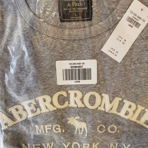 Mens Large Abercrombie grey shirt